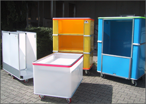 Containers for the transport of school equipment