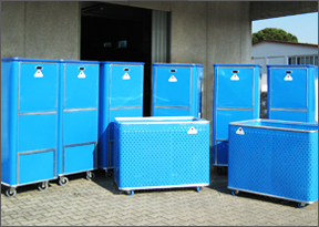 Containers in polyetilen HDPE for laundrys
